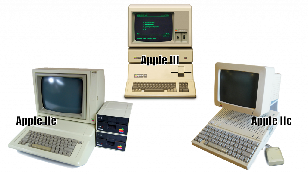 Apple III, Apple IIe y Apple IIc