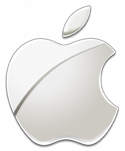 Logo cromado de Apple
