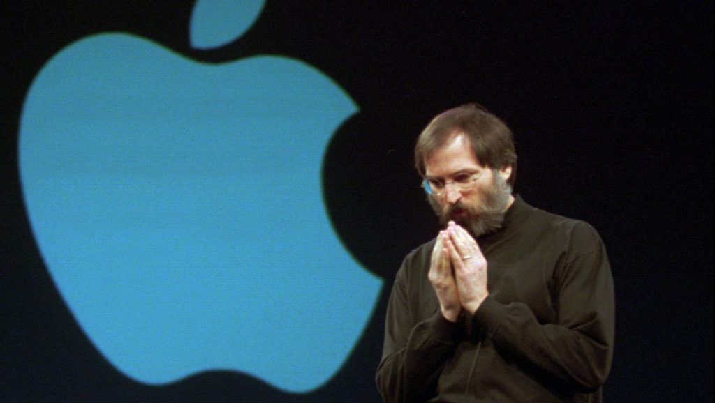 Steve Jobs tras su regreso a Apple en 1997