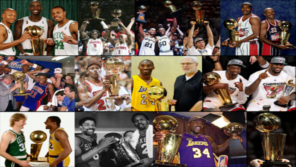 Collage de campeones de la NBA