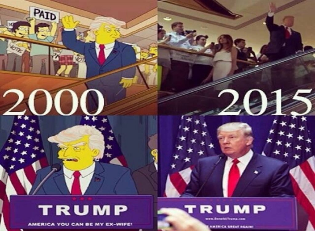Meme de Los Simpsons y Donald Trump