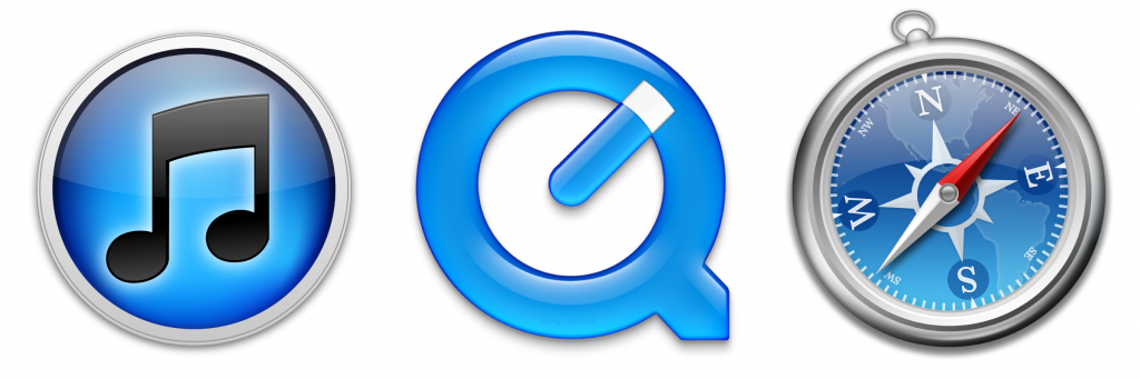 Software de Apple: iTunes, Quicktime y Safari