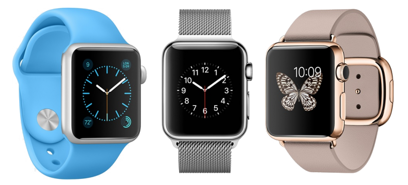 Versiones del Apple Watch: Steel, Sport y Edition