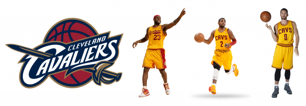 Estrellas de Cleveland Cavaliers: James, Irving y Love