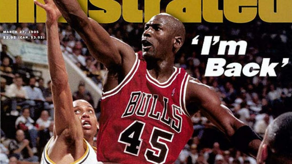 Michael Jordan en la portada de Sports Illustrated