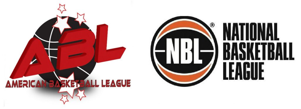 Escudos de la American Basketball League (ABL) y la National Basketball League (NBL)