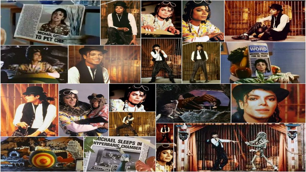 Collage con fotos de Michael Jackson