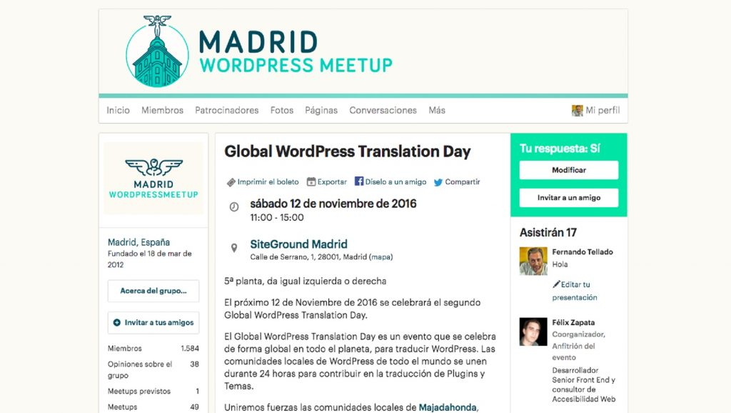 Madrid WordPress Meetup