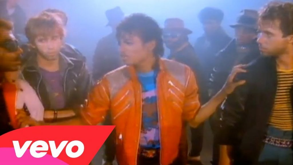 "Michael Jackson en videoclip de ""Beat It"""