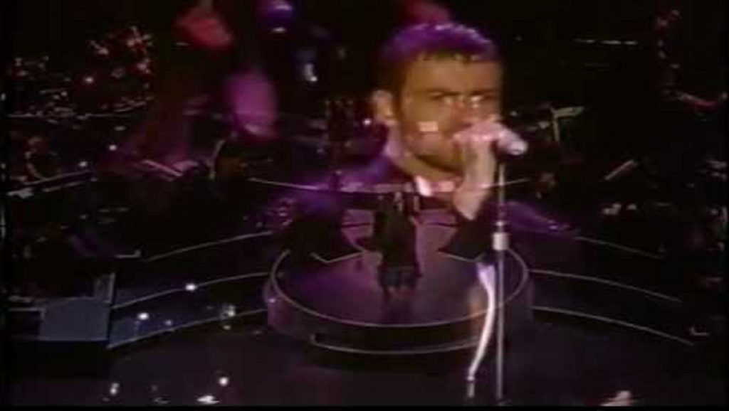 George Michael actuando en el Rock in Río