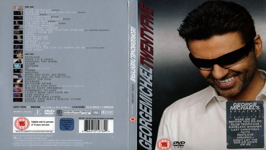 "Portada del DVD del álbum ""Twenty Five"" de George Michael"