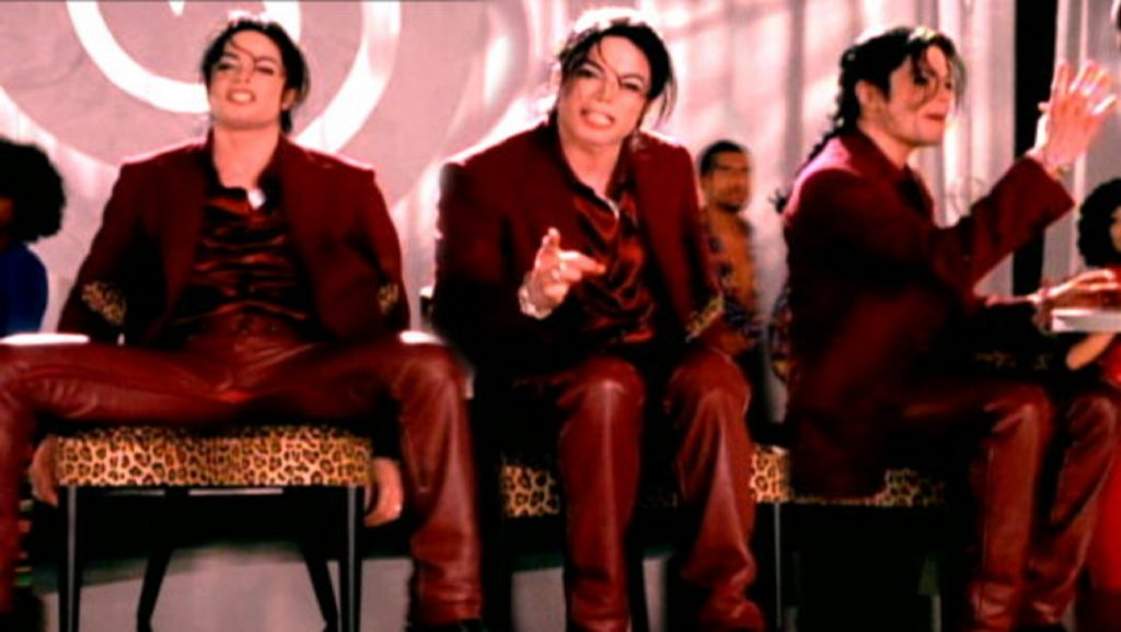 "Michael Jackson en videoclip de ""Blood on the dance floor"""