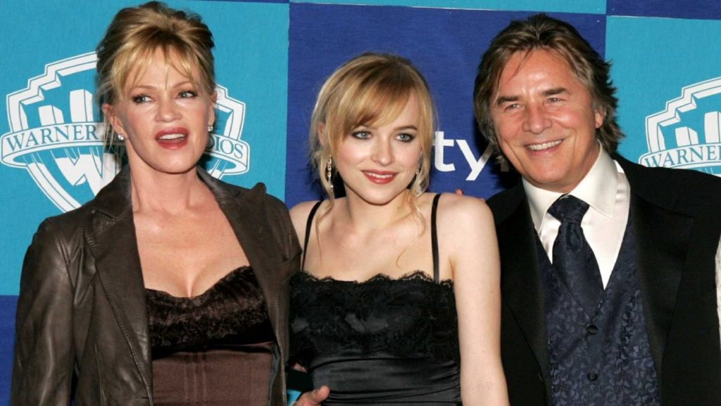 Melanie Griffith, Dakota Johnson y Don Johnson