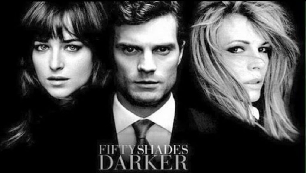 Dakota Johnson, Jamie Dornan y Kim Basinger