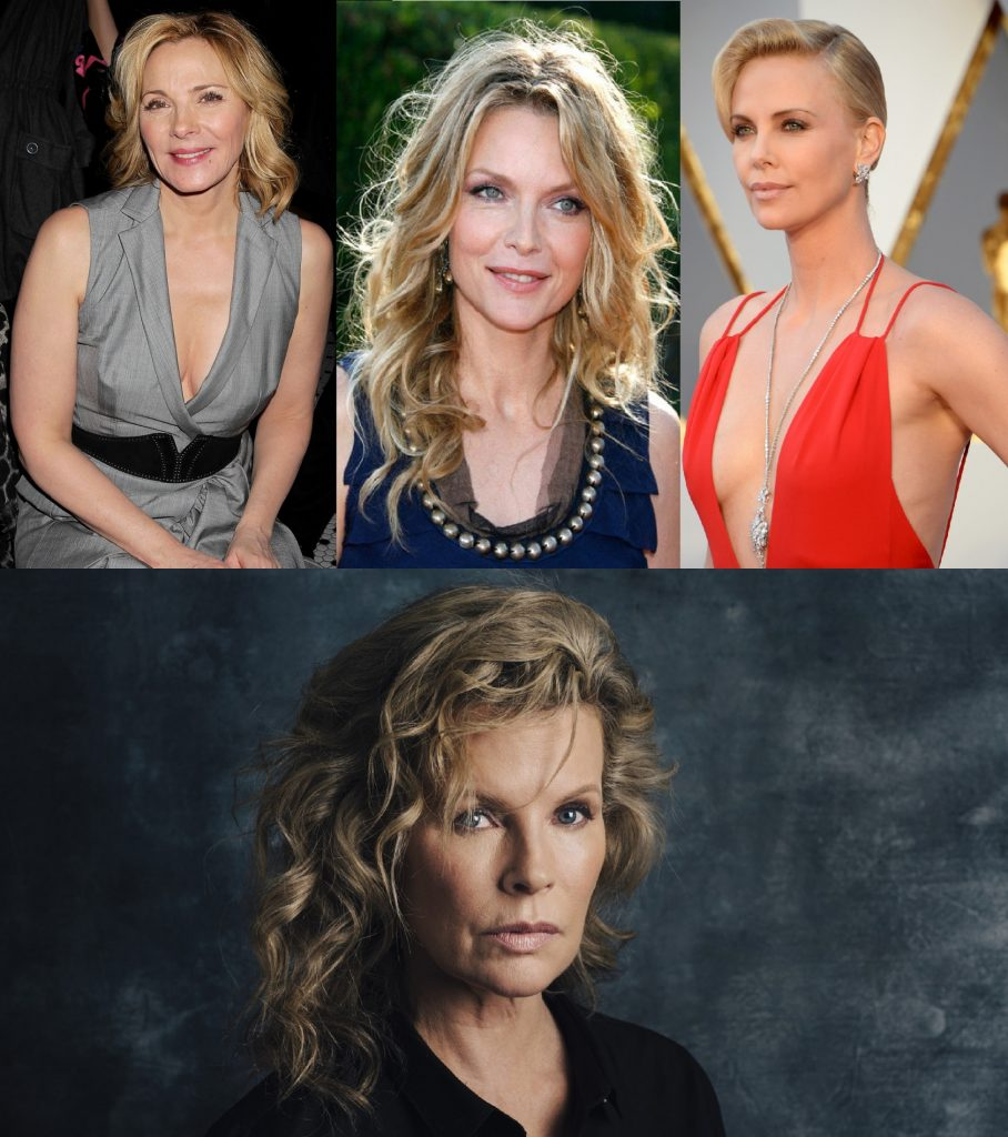 Kim Cattrall, Michelle Pfeiffer, Charlize Theron y Kim Basinger