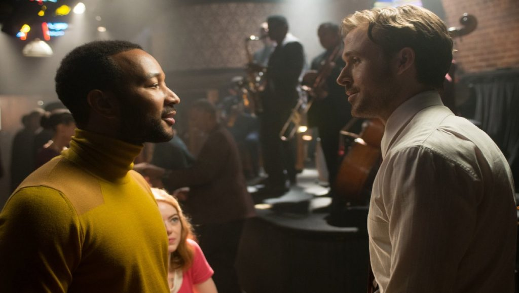 "John Legend y Ryan Gosling en ""La La Land"""