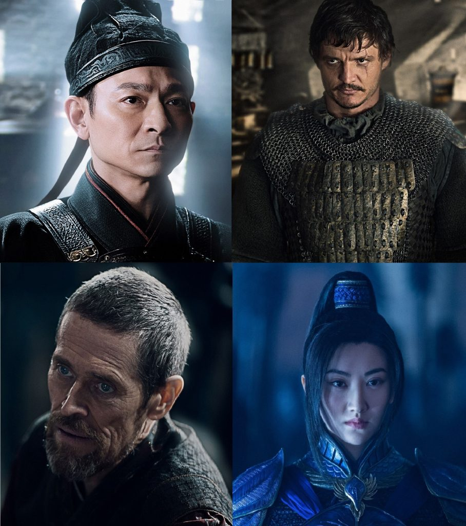 Andy Lau, Pedro Pascal, Willem Dafoe y Jing Tian