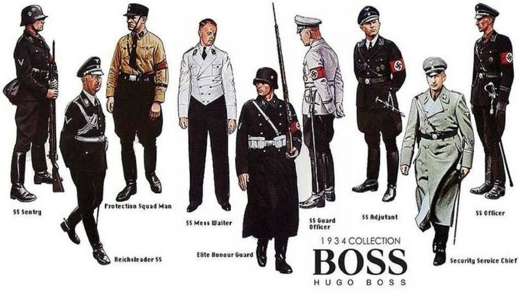 Uniformes nazis de Hugo Boss
