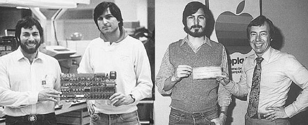 Steve Wozniak, Steve Jobs y Mike Markkula