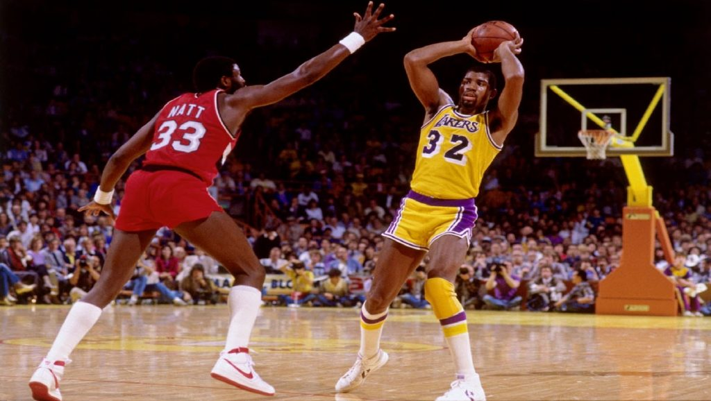 Magic Johnson con los Lakers
