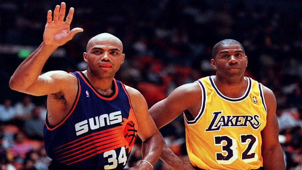 Charles Barkley y Magic Johnson