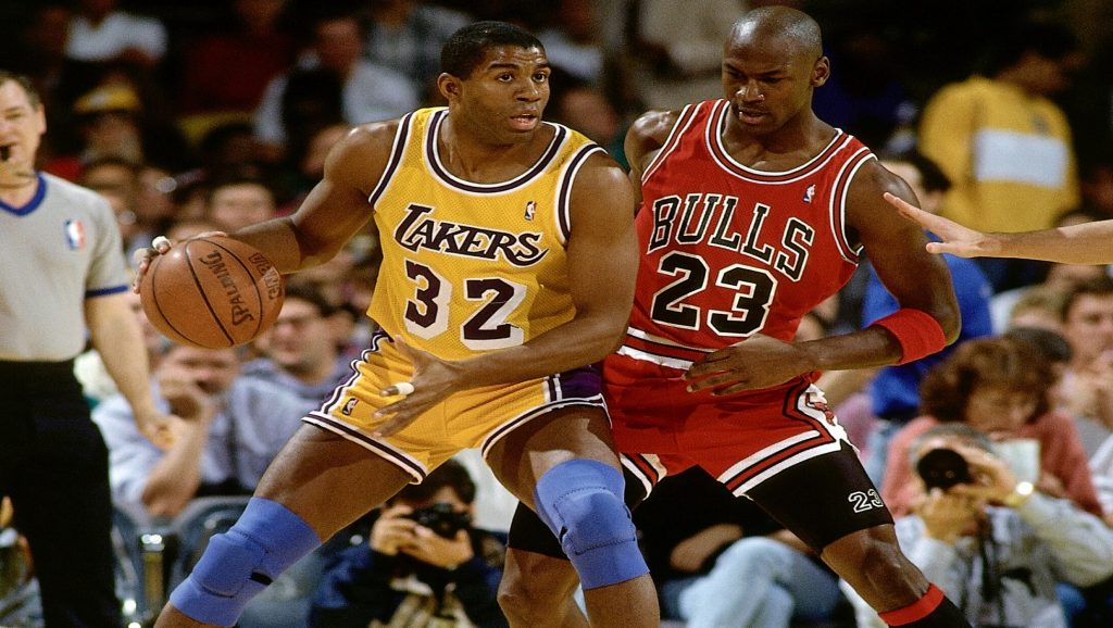 Magic Johnson y Michael Jordan