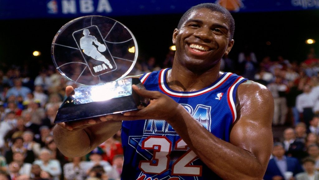 Magic Johnson ganador del MVP del All-Star Game de la NBA