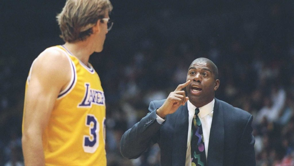 Magic Johnson entrenador de los Lakers