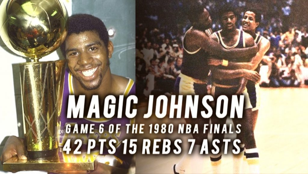 Magic Johnson MVP de la finales de la NBA en 1980