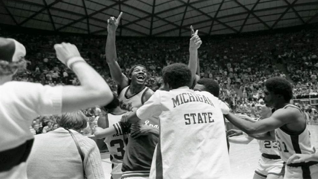 Magic Johnson campeón de la NCAA con Míchigan