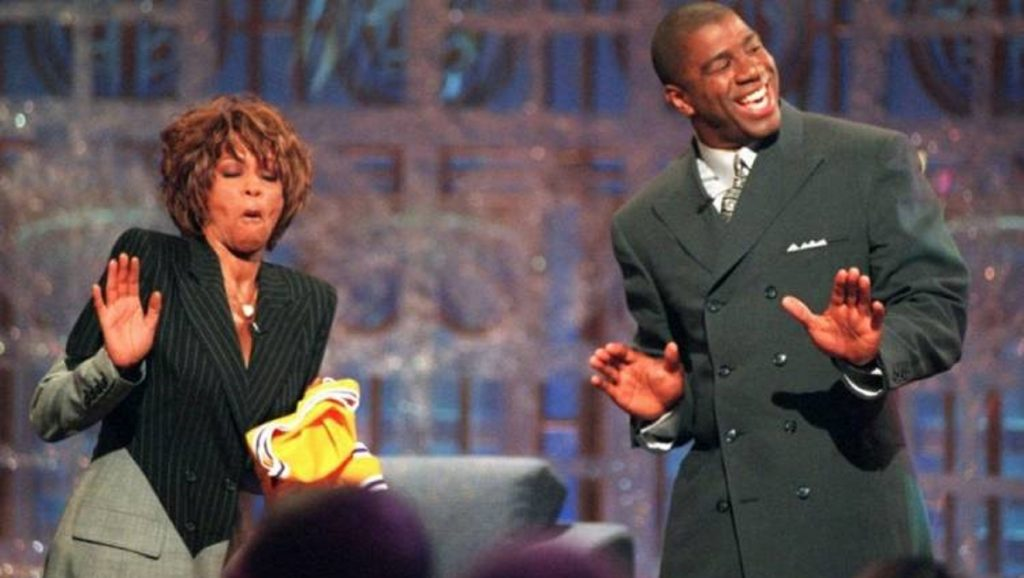 "Oprah Winfrey y Magic Johnson en ""The Magic Hour"""
