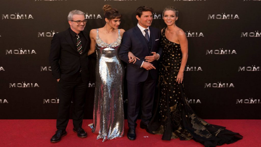 Alex Kurtzman, Sofia Boutella, Tom Cruise y Annabelle Wallis
