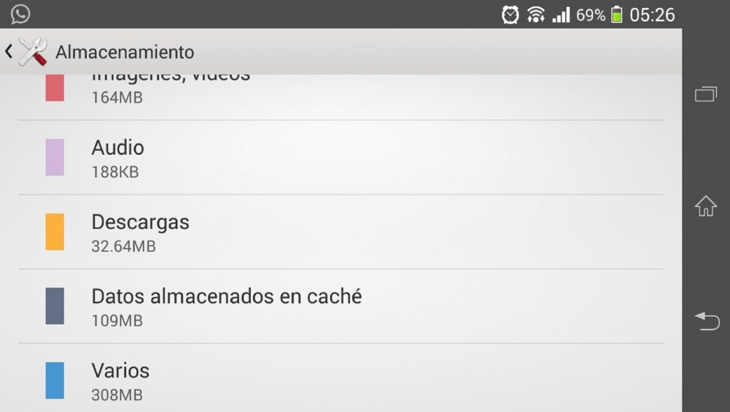 Borrar caché en dispositivo Android