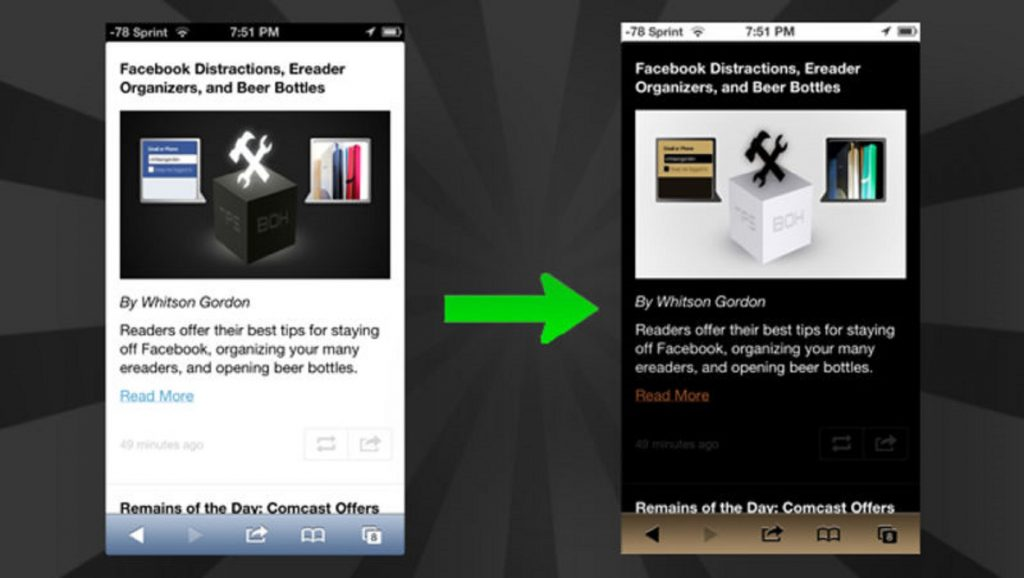 Corrección de color en dispositivo Android