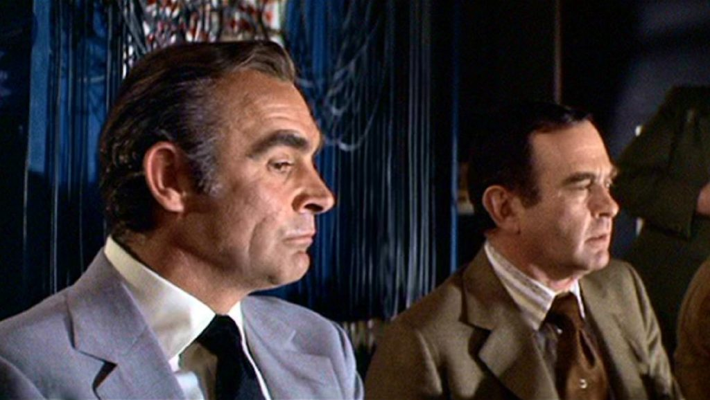 Sean Connery y Norman Burton en Diamantes para la eternidad