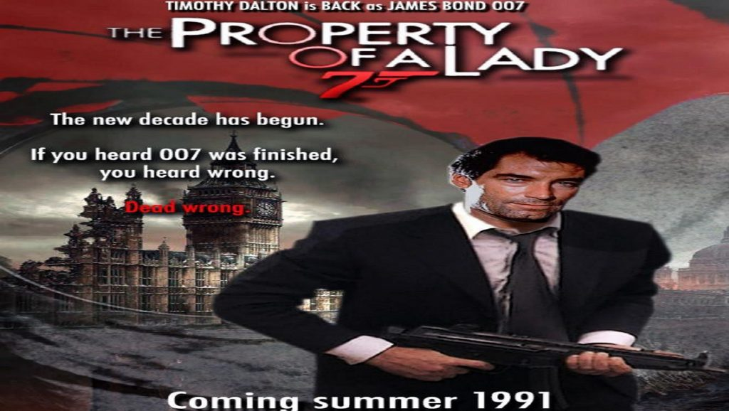 "Montaje de ""The property of a lady"", tercera película de Timothy Dalton como James Bond"