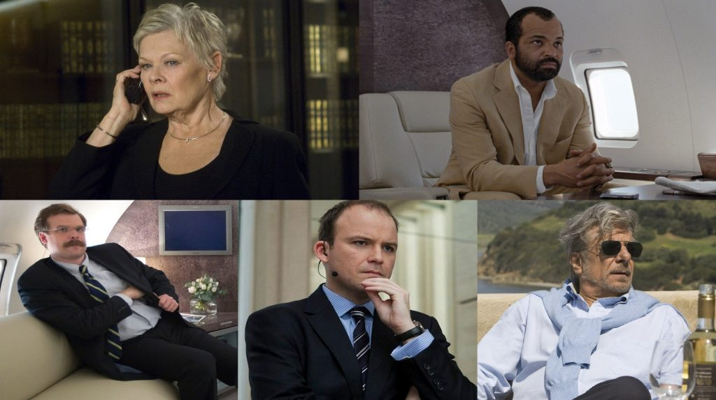 Judi Dench, Jeffrey Wright, David Harbour, Rory Kinnear y Giancarlo Giannini en Quantum of Solace