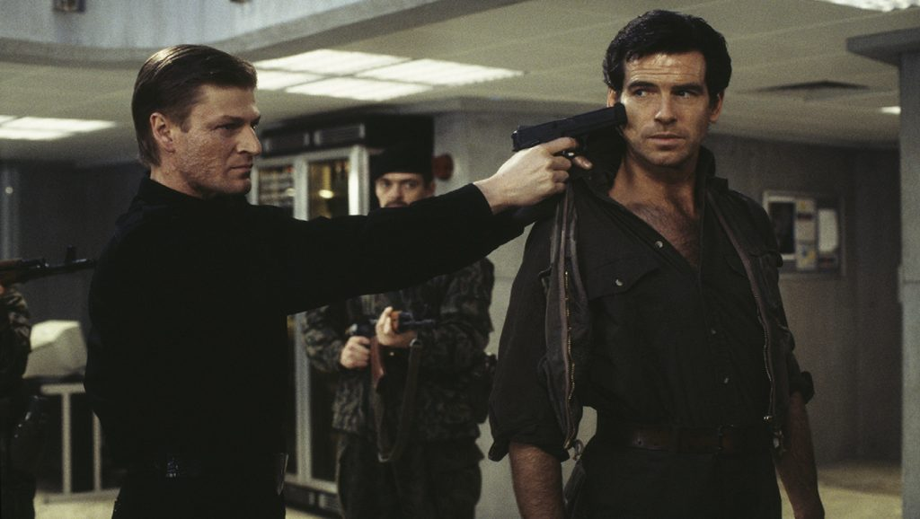 Sean Bean y Pierce Brosnan en Goldeneye