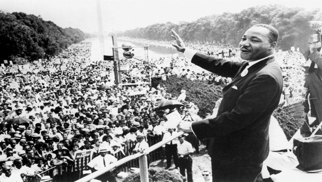 "Martin Luther King en discurso ""I have a dream"""
