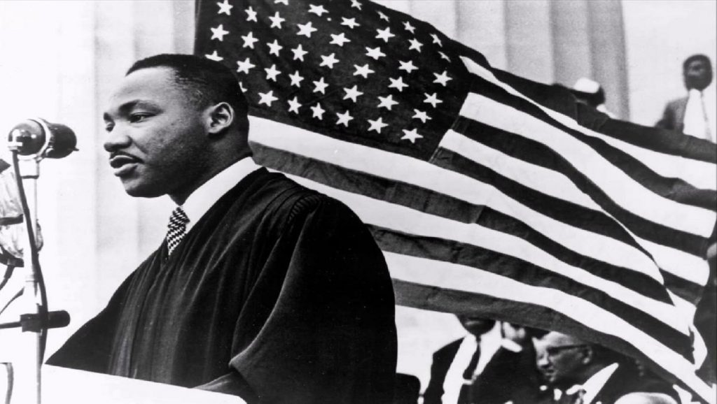 Martin Luther King durante discurso