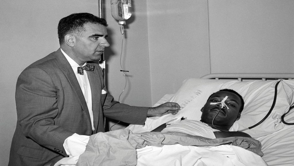 Martin Luther King en el hospital