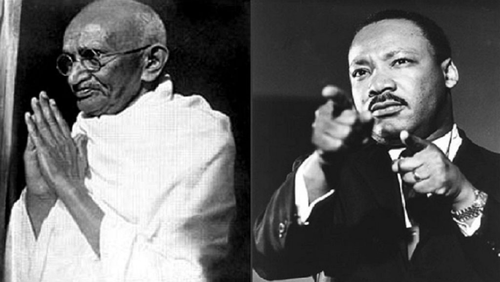 Gandhi y Martin Luther King