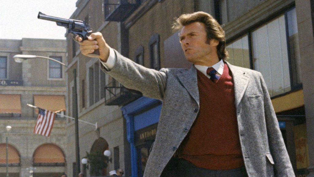 "Clint Eastwood en ""Harry, el sucio"""