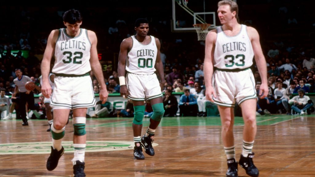 Kevin McHale, Robert Parish y Larry Bird