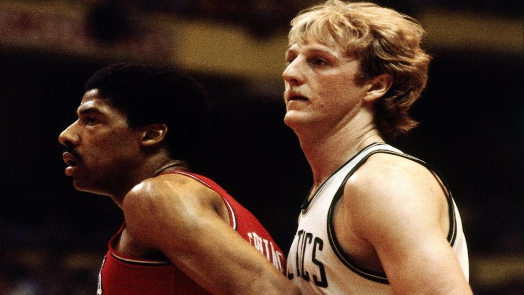Julius Erving y Larry Bird