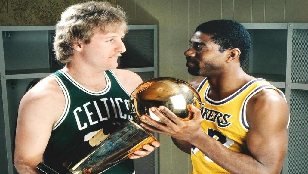 Larry Bird y Magic Johnson