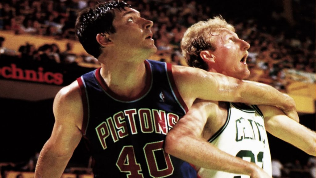 Larry Bird contra Detroit Pistons