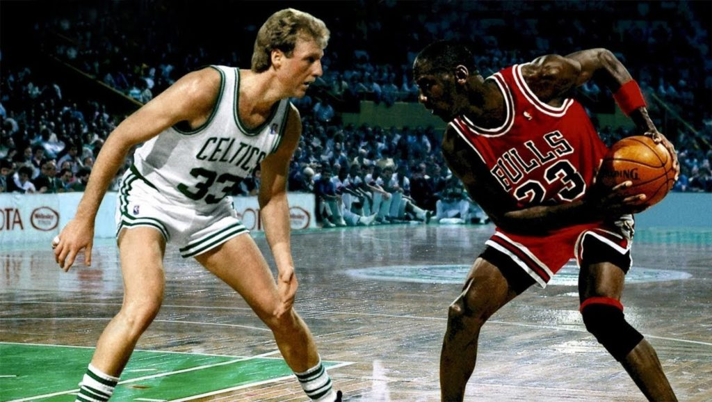Larry Bird y Michael Jordan