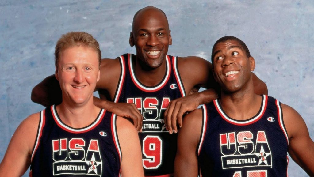 Larry Bird, Michael Jordan y Magic Johnson