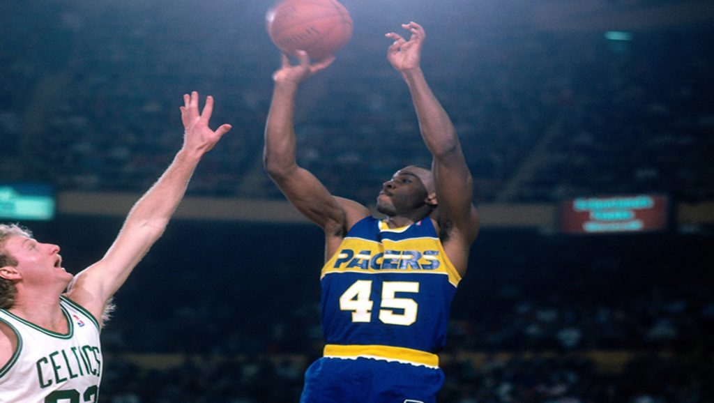 Larry Bird y Chuck Person